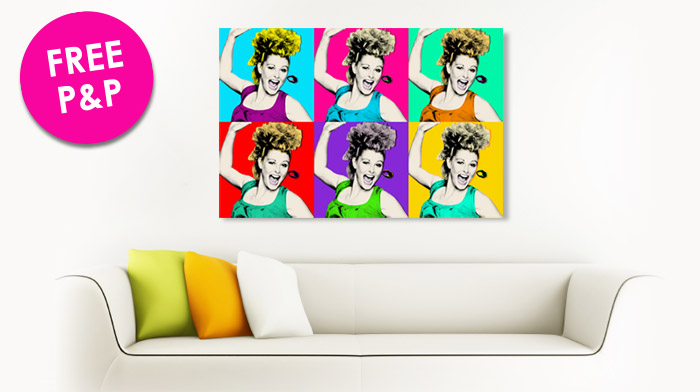 An example of our Warhol Pop art Canvas - 6 panel, an interior shot