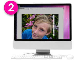 Step 2 - Your photograph on screen - advice on whether your photo will work with your requested style